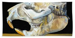 Beaver Skull 1 Beach Towel by Catherine Twomey