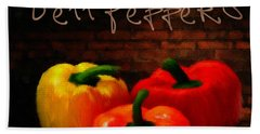 Bell Peppers II Beach Towel by Lourry Legarde