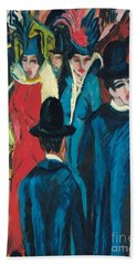 Berlin Street Scene Beach Sheet by Ernst Ludwig Kirchner