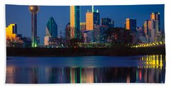 Big D Reflection Beach Towel by Inge Johnsson
