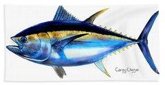 Big Eye Tuna Beach Sheet by Carey Chen