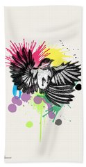 Bird Beach Towel by Mark Ashkenazi