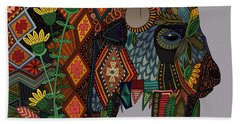 Bison Heather Beach Towel by Sharon Turner