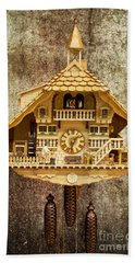 Black Forest Figurine Clock Beach Towel by Heiko Koehrer-Wagner