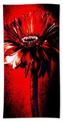 Bloody Mary Zinnia Beach Towel by Sherry Allen