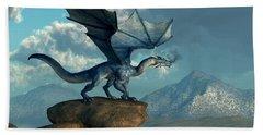 Blue Dragon Beach Towel by Daniel Eskridge