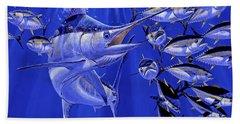Blue Marlin Round Up Off0031 Beach Sheet by Carey Chen