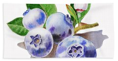 Artz Vitamins The Blueberries Beach Sheet by Irina Sztukowski