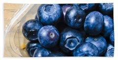 Blueberries Punnet Beach Sheet by Jorgo Photography - Wall Art Gallery
