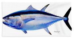 Bluefin Tuna Beach Towel by Carey Chen