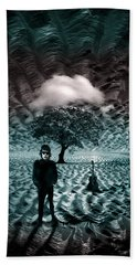 Bob Dylan A Hard Rain's A-gonna Fall Beach Towel by Mal Bray