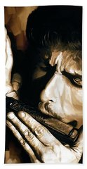 Bob Dylan Artwork 2 Beach Towel by Sheraz A