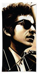 Bob Dylan Artwork 3 Beach Towel by Sheraz A