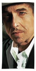 Bob Dylan Artwork Beach Towel by Sheraz A