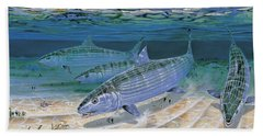 Bonefish Flats In002 Beach Towel by Carey Chen