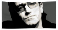 Bono Poster Beach Towel by Dan Sproul