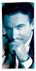 Bono U2 Artwork 4 Beach Towel by Sheraz A