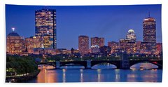 Boston Nights 2 Beach Towel by Joann Vitali