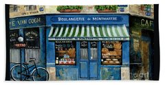 Boulangerie De Montmartre Beach Sheet by Marilyn Dunlap