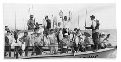 Boys Hold Up Their Fish Beach Towel by Underwood Archives