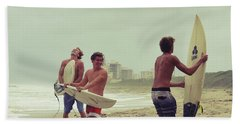 Boys Of Summer Beach Towel by Laura Fasulo