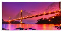 Bridge To Dream Beach Towel by Midori Chan