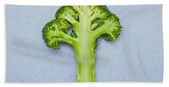 Broccoli Beach Towel by Tom Gowanlock