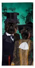 Brussels Griffon - Griffon Bruxellois Art Canvas Print Beach Sheet by Sandra Sij