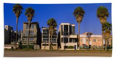 Buildings In A City, Venice Beach, City Beach Towel by Panoramic Images