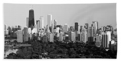 Buildings In A City, View Of Hancock Beach Towel by Panoramic Images