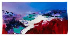 Call Of The Canyon Beach Towel by Elise Palmigiani