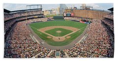 Camden Yards Baltimore Md Beach Towel by Panoramic Images