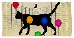 cat Beach Sheet by Mark Ashkenazi