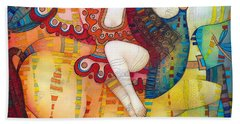 Centaur In Love Beach Towel by Albena Vatcheva