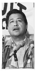 Cesar Chavez Announces Boycott Beach Sheet by Underwood Archives