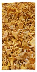 Chanterelle Mushroom Beach Towel by Anonymous