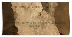 Charles Darwin The Origin Of Species Beach Towel by Dan Sproul