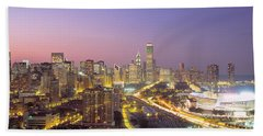 Chicago, Illinois, Usa Beach Towel by Panoramic Images