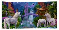 Chinese Unicorns Beach Towel by Jan Patrik Krasny