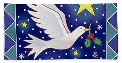 Christmas Dove  Beach Sheet by Cathy Baxter