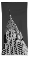Chrysler Building Bw Beach Towel by Susan Candelario