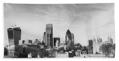 City Of London  Beach Towel by Pixel Chimp