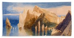 Cliffs On The North East Side Of Point Beach Towel by John Sell Cotman