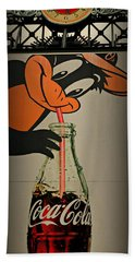 Coca Cola Orioles Sign Beach Towel by Stephen Stookey