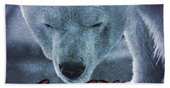 Coca Cola Polar Bear Beach Towel by Dan Sproul