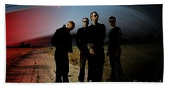 Coldplay Beach Towel by Marvin Blaine