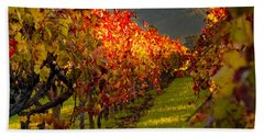 Color On The Vine Beach Sheet by Bill Gallagher