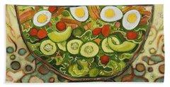 Cool Summer Salad Beach Towel by Jen Norton