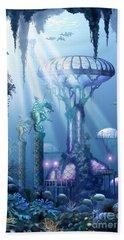 Coral City   Beach Towel by Ciro Marchetti
