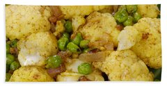 Curried Cauliflower Beach Towel by Science Source